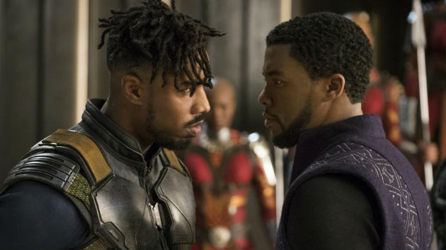 "Michael B. Jordan discusses being a first-time villain and how his ""Black Panther"" character shows the ""common struggle"" of African-Americans"