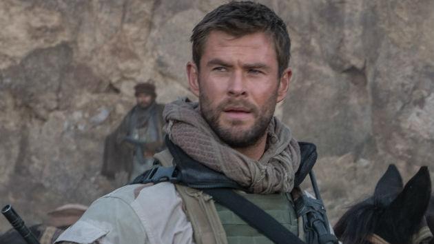 "Comic book hero Chris Hemsworth talks real-life heroes, in military movie ""12 Strong"""