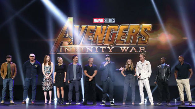 """Avengers"" cast assembles in Beverly Hills ahead of Infinity War premiere"