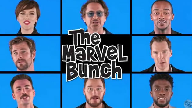 """Robert Downey, Jr. and The Avengers assemble on """"The Tonight Show"""" to sing """"The Marvel Bunch"""""""