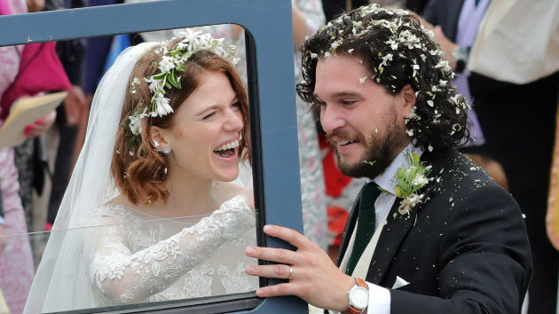 """Game of Thrones"" stars Kit Harington and Rose Leslie tie the knot in Scotland"