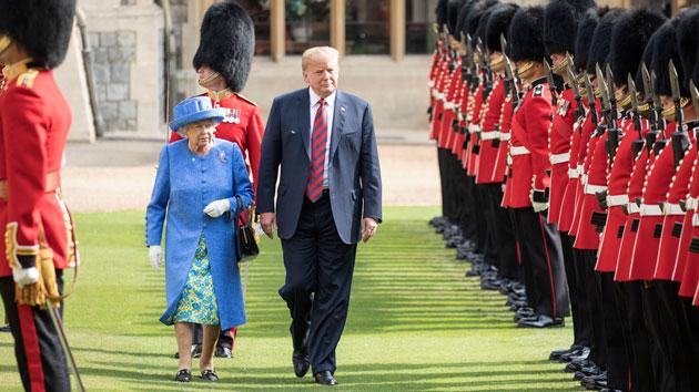 President Trump, Melania get royal treatment at tea with Queen Elizabeth II