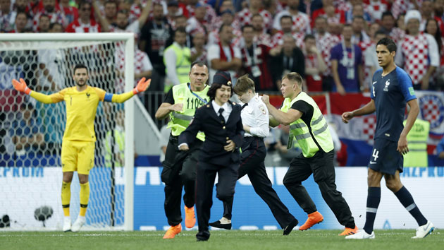 Pussy Riot claims responsibility for dramatic on-field protest during World Cup 2018 final