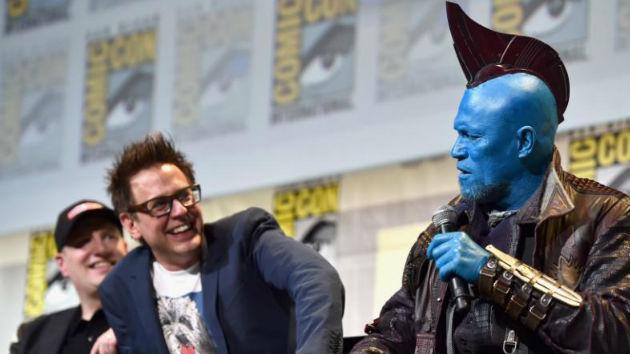 L-R - James Gunn and Michael Rooker as Yondu/Marvel Studios