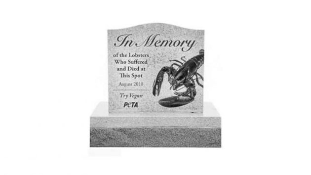 PETA asks Maine for permission to erect tombstone for lobster killed in truck crash