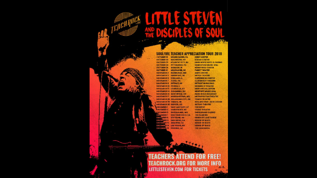Little Steven and the Disciples of Soul launch Soulfire Teachrock Tour; teachers can attend free