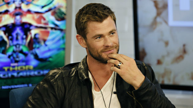 Chris Hemsworth gives lucky hitchhiker a helicopter ride in Australia