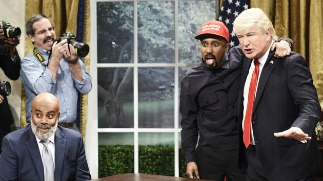 Alec Baldwin returns to 'SNL' as Trump meets Kanye at the White House