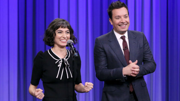 'SNL' star Melissa Villaseñor impersonates Gwen Stefani, Christina Aguilera and more, on 'The Tonight Show'