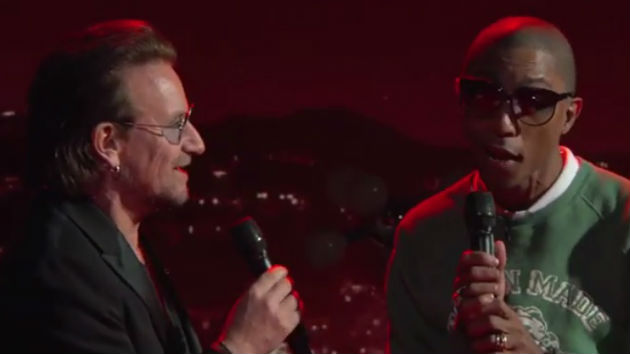 "Bono, Snoop, others gather on ""Jimmy Kimmel Live!"" for his fourth-annual (RED) benefit show"