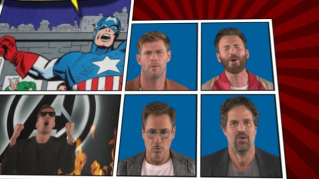 """'Avengers: Endgame' cast recaps all 22 Marvel films on 'The Tonight Show' with """"We Didn't Start the Fire"""" parody"""