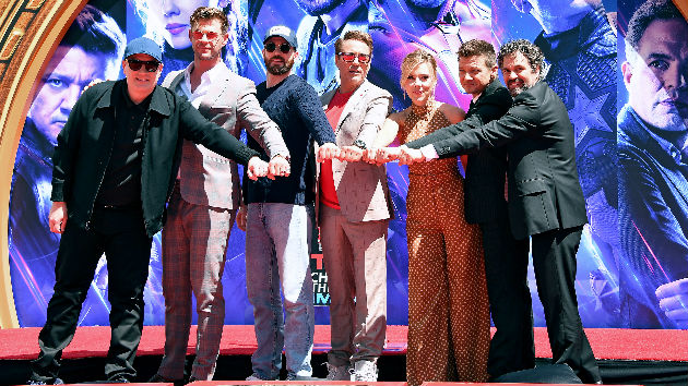 In stone for all infinity: 'Avengers' stars get hands in cement at famed Chinese Theatre
