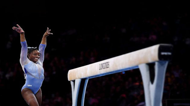 Simone Biles makes history for winning most world medals of any gymnast