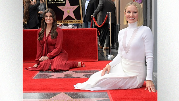 Kristen Bell hilariously steals the show as she and Idina Menzel celebrate their stars on the Hollywood Walk of Fame