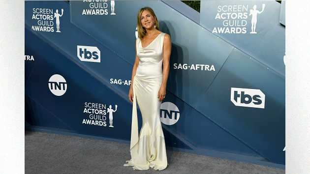 Jennifer Aniston reveals just how far she went to keep her SAG Awards gown wrinkle free