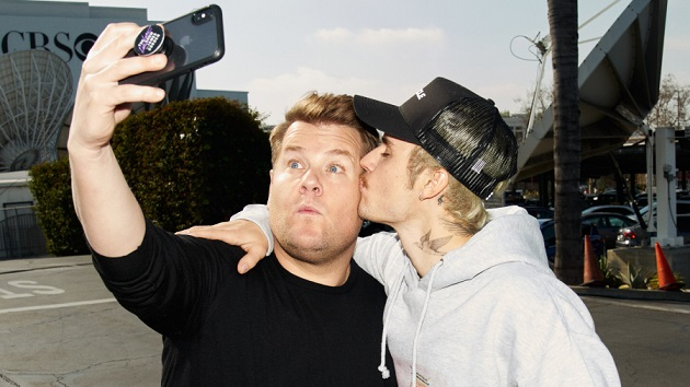 "Justin Bieber and James Corden wrestle and talk fighting Tom Cruise on ""Carpool Karaoke"""