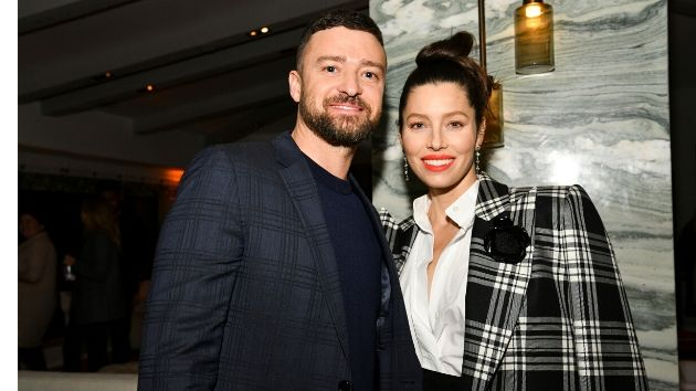 Justin Timberlake and Jessica Biel practice social distancing atop a stunning snow-covered mountain