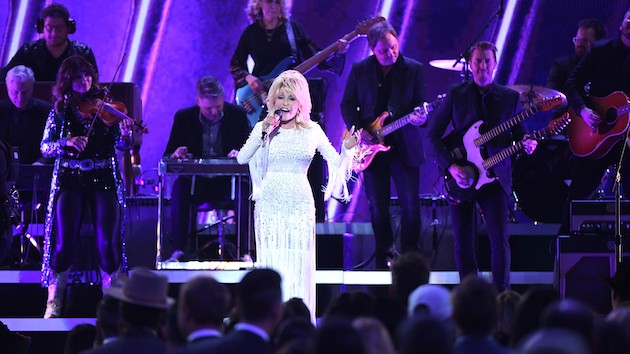 Dolly Parton's singing made Stephen Colbert cry Tuesday night