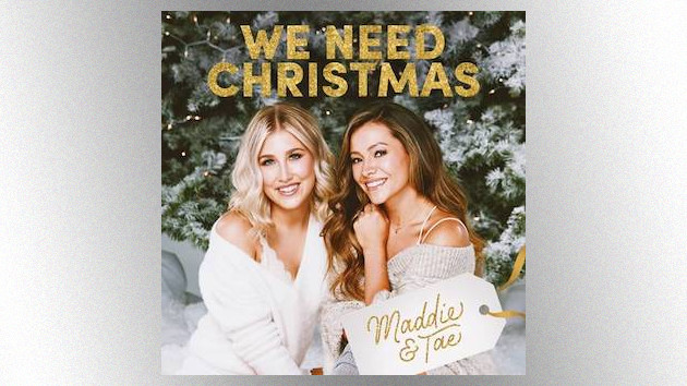 "Maddie & Tae get glammed up, holiday style, for their ""We Need Christmas"" music video"