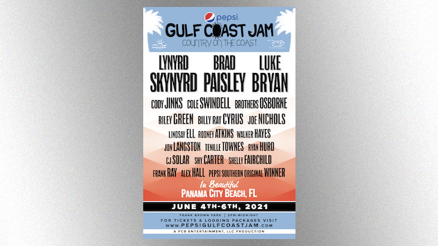 Pepsi Gulf Coast Jam announces rescheduled 2021 dates after postponing last year's event