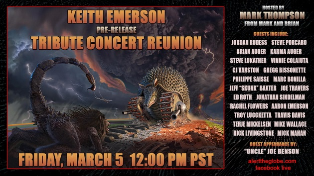 """Toto members, Jeff """"Skunk"""" Baxter appearing on virtual event celebrating Keith Emerson tribute show release"""