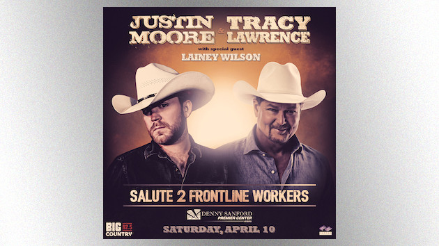 Justin Moore, Tracy Lawrence join forces to mount a free arena show for frontline workers