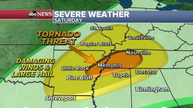 New storm could produce more tornadoes for South this weekend