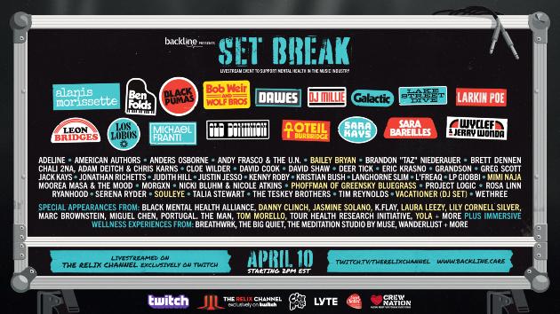 Tom Morello, Lily Cornell Silver to appear on 'Set Break' virtual mental health festival