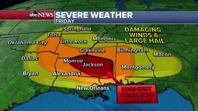 More than 30 million people on alert for severe weather