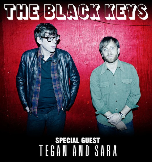 The Black Keys, Tegan and Sara tour poster