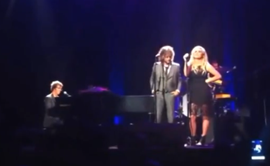 Ben Folds performing with Wayne Coyne and Kesha