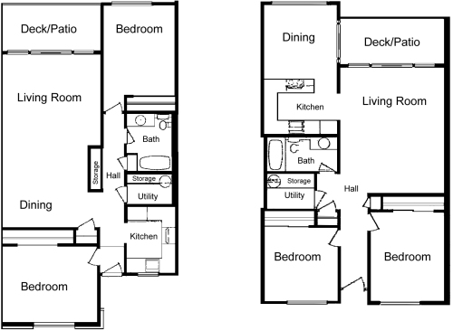 2 Bedroom Apartment Design Plans la villa apartments, lynden, wa - floor plans