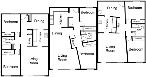La Villa Apartments, Lynden, WA - Floor Plans
