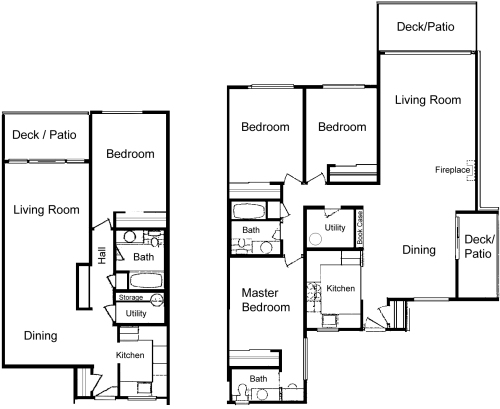 28 3 bedroom unit floor plans three bedroom apartments for 3 bedroom unit floor plans