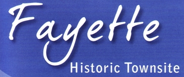 """Photo of brochure for """"Fayette Historic Townsite"""""""