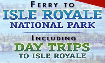 "Photo of brochure for ""Ferry to Isle Royale"""