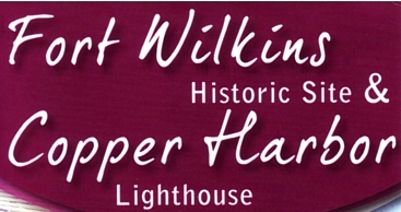 """Photo of brochure for """"Fort Wilkins Historic Site & Copper Harbor Lighthouse"""""""