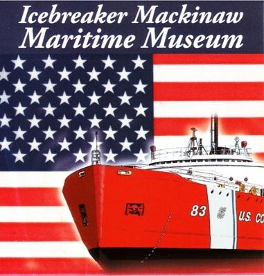 "Photo of brochure for ""Icebreaker Mackinaw Maritime Museum"""