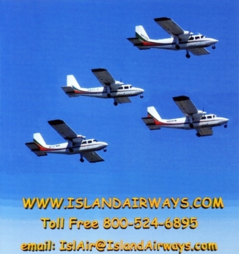 "Photo of brochure for ""Island Airways to Beaver Island"""