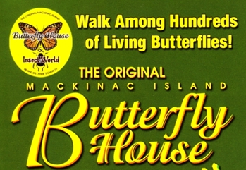 "Photo of brochure for ""Mackinac Island Butterfly House"""