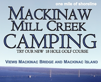 """Photo of brochure for """"Mackinaw Mill Creek Camping"""""""