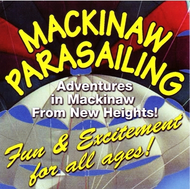"Photo of brochure for ""Mackinaw Parasailing"""