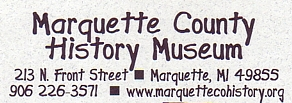 "Photo of brochure for ""Marquette County Historic Museum"""