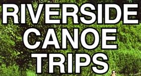"""Photo of brochure for """"Riverside Canoe Trips"""""""