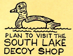 "Photo of brochure for ""South Lake Decoy Shop"""
