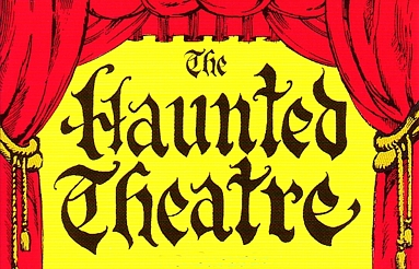 "Photo of brochure for ""The Haunted Theatre"""