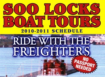 "Photo of brochure for ""Soo Locks Tours"""