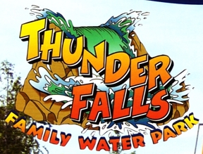 "Photo of brochure for ""Thunder Falls Waterpark"""