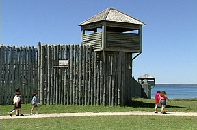 Photo of Fort Michilimackinac, aka Colonial Michilimackinac) in Mackinaw City, MI.