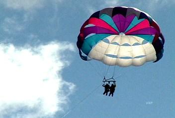 Photo of parasailing in Mackinaw City, MI at Mackinaw Parasailing.